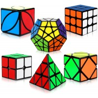 Speed Cube Set Aitbay Magic Cube Bundle 2X2 3X3 Pyramid Megaminx Skew Ivy Sticker Cubes Puzzle Toys