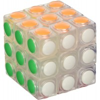 Little Treasures Cube Clear Speed Cube 3 X 3 Puzzle Cube Sticker Less 3 Layer Speed Cube Vivid