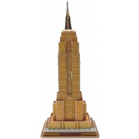 Runsong Creative 3D Puzzle Paper Model Empire State Building Diy Fun Educational Toys World Great
