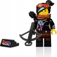 Lego The Movie 2 Minifigure Lucy Wyldstyle With Goggles Crossbow And Display