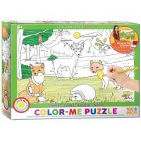 Eurographics Forest Color Me Puzzle 100