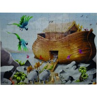 Noahs Ark Jigsaw Puzzle Ages 48 With Cool Twist Includes Free Iosandroid App 126 Pieces 15 X 26
