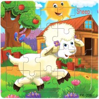 Puzzles Ages 35 Wooden Jigsaw Puzzles 20 Pieces Preschool Educational Learning Toys Set 4