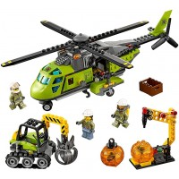 Lego City Volcano Explorers 60123 Volcano Supply Helicopter Building Kit 330