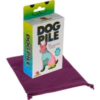 Dog Pile The Puppacking Puzzle Bonus Purple Velveteen Drawstring Pouch Bundled