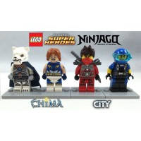 Lego 4 Minifigures Boxed Giftset Cube 2015 Superheroes Chima Ninjago And City