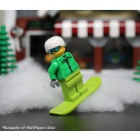 Lego City Minifigure Snowboarder With Goggles And Snowboard