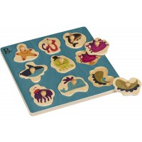 B Toys Hide N Sea Underwater Peg Puzzle Classic Wooden Puzzles For Toddlers With 9 Chunkypiece
