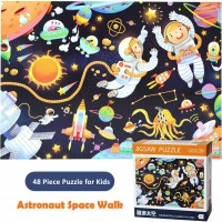Moruska Jigsaw Puzzles Ages 48 Children 48 Piece Outer Space Puzzles Toddlers 4 Years Old Astronaut