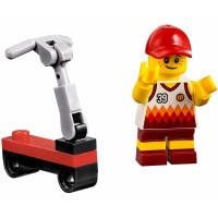 Lego City Beach Minifigure Scooter Boy W Basketball Jersey Scooter