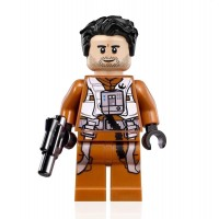 Lego Star Wars Rise Of Skywalker Minifigure Poe Dameron Pilot Jumpsuit And Blaster