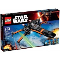 Lego Building Block Spacecraft Poes Xwing Fighter Star Wars 717Pcs