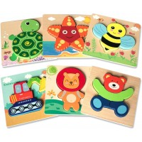Wooden Puzzles For Toddlers Awesomecube Wooden Jigsaw Puzzles 1 2 3 Years Old Educational