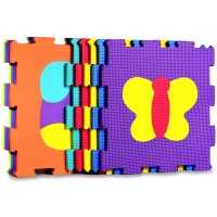 Animals Rubber Eva Foam Puzzle Play Mat Floor 10 Interlocking Playmat Tiles Tile12X12 Inch10 Sqfeet
