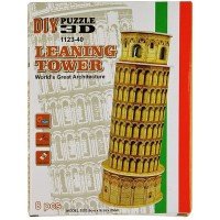 Sakiyr 39 Pcs Leaning Tower Of Pisa Diy 3D Puzzle Brain Teaser Of Building Model Educational