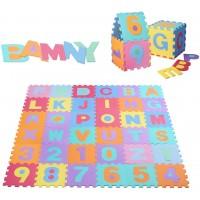 Bamny Puzzle Play Mat Nontoxic Eva Kids Colorful Alphabets Numbers Foam Floor Mat For Children