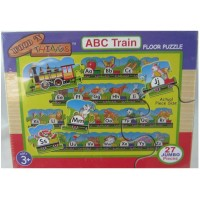 Wood N Things Abc Train Floor Puzzle Over 10 Feet
