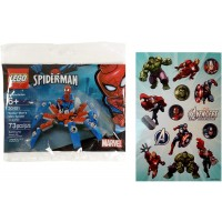 Lego Spiderman 30451 Spidermans Mini Spider Crawler Polybag With One Sheet Of 14 Avengers Assemble
