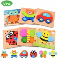 Wooden Jigsaw Puzzles For Toddlers Baby Kids 1 2 3 Years Old Color Shapes Wooden Puzzles Boys Girls