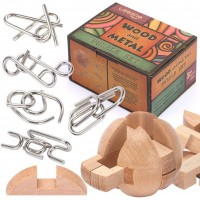 Brain Teasers Metal Puzzles And Adult Mind Logic Iq Game Test Toy For Teens Disentanglement 3D