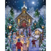Vermont Christmas Company Midnight Mass Jigsaw Puzzle 1000