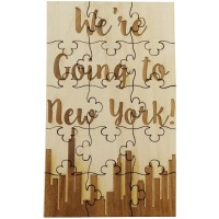 Were Going To New York 15 Piece Basswood Jigsaw Puzzle Surprise Vacation Ny Trip