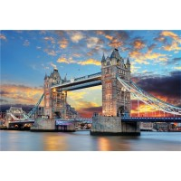 Ddtop 1000 Pieces Wooden Thames London Tower Bridge Jigsaw PuzzleWooden Multicolour Large Format