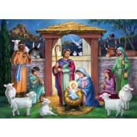 Vermont Christmas Company Holy Manger Jigsaw Puzzle 1000