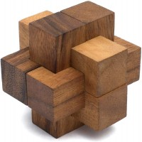 Links Handheld 3D Brain Teaser Puzzle For Adults Handmade Premium Quality Burr Puzzle Gift For