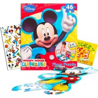 Disney Mickey Mouse Giant Floor Puzzle 3 Foot Puzzle 46 Pieces Bonus Mickey Mouse
