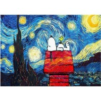 Jigsaw Puzzle 1000 Piece For Adults 3D Wooden Classic Snoopy Under The Stars
