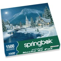 Springbok Puzzles Moonlit Village 1500 Piece Jigsaw Puzzle Large 2875 Inches By 36 Inches Puzzle