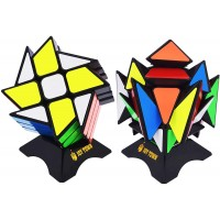 Joytown Speed Cube Set Of 2 Bundle Pack Windmill Cube Magic Puzzle Yj Axis V2 New Version