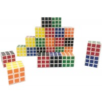 Pack Of 12 Puzzle Party Toy Mini Cube Ecofriendly Material With Vivid Color Magic Cube Great For