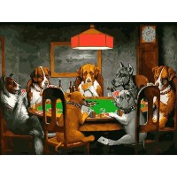 Jigsaw Puzzle 1500 Piece Adult Childs Dog Playing Poker On The Table Gift For Children Or