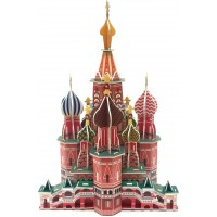 Runsong Creative 3D Puzzle Paper Model St Basils Cathedral Diy Fun Educational Toys World Great