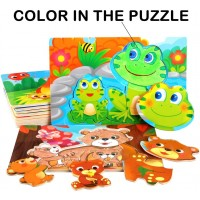 Wooden Puzzles For Toddlers Kids Ages 1 2 3 4 Years Old Color In Puzzles Graffiti Toy Preschool