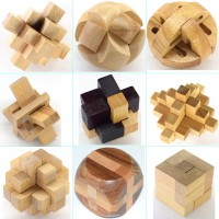 Volksrose 3D Wooden Cube Brain Teaser Puzzle 9 Pcs Iq Puzzles Great Educational Intelligence Jigsaw