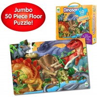 The Learning Journey Jumbo Floor Puzzles Dinosaurs Extra Large Puzzle Measures 3 Ft By