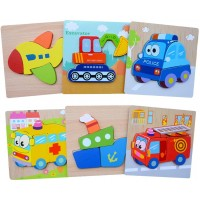 Wooden Jigsaw Puzzles 6 Pack Animal Puzzles For Toddlers Kids 1 2 3 Years Old Educational Toys