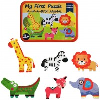 Humars Puzzle Games 6Inabox My First Animal Puzzle Set Wooden Jigsaw Puzzles For Boy Girl