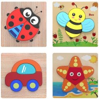 Wooden Puzzle Versiontech Jigsaw Puzzles For Toddlers Kids 1 2 3 4 Years Old Boys Girls Educational