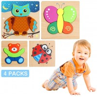 Wooden Animal Jigsaw Puzzles For Toddlers 1 2 3 Years Old Preschool Educational Wooden Puzzles With