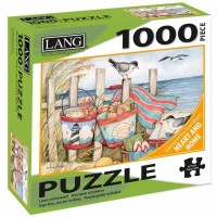 The Lang Companies Calendars Sand Buckets 1000 Piece Jigsaw Puzzle 29X20 Linen Embossed