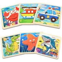 Wooden Jigsaw Puzzles For Toddlers Kids Age 25 Colorful Wooden Puzzles For Toddlers Children
