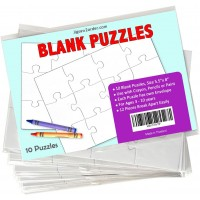 Jigsaw2Order 12 Piece Blank Puzzle Craft Activity Pack Of 10 Puzzles Size 55 X 8 With Individual