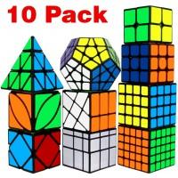 Speed Cube Set Libay Cube Bundle 2X2 3X3 4X4 5X5 Pyramid Megaminx Skew Mirror Ivy Windmill Sticker