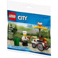 Lego City Hot Dog Cart And Vendor 30356
