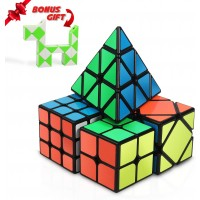 Speed Cube Set Integear Magic Bundle 2x2 3x3 Pyramid And Skewb With A Bonus Snake