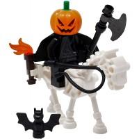 Lego Halloween Headless Horseman Skeleton Horse Toy Custom Spooky Monster Minifigure Legend Of